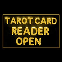 180087 Tarot Card Reander Open Crystal Ball Future Exact Science LED Light Sign