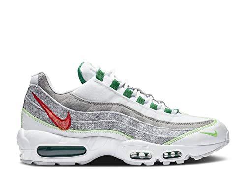 Nike Men's Air Max 95 Running Shoe, White Classic Green Electric Green, 9 UK
