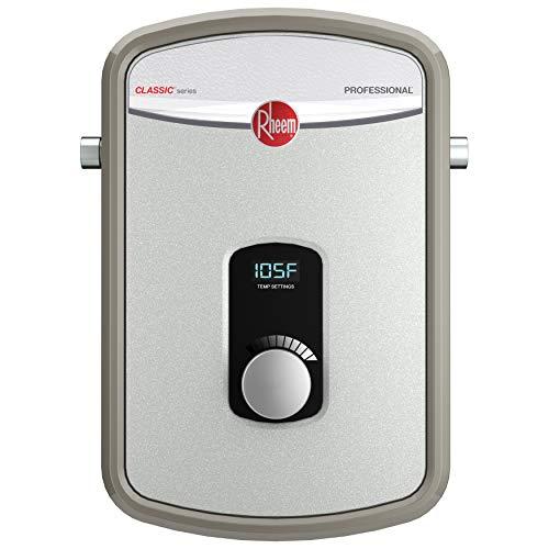 Rheem RTEX-08 8kW 240V Tankless Electric Water Heater, Gray