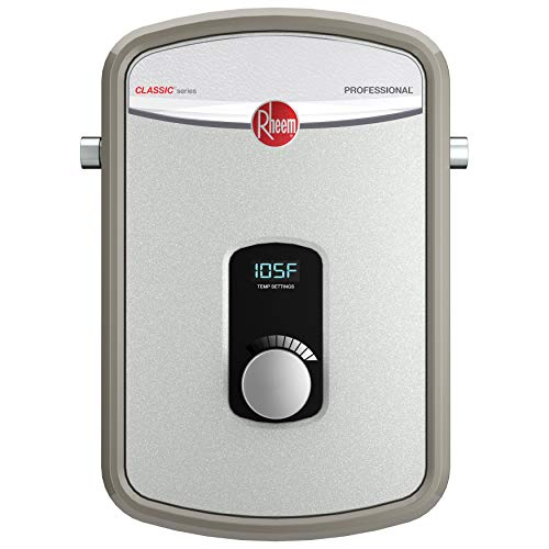 Rheem RTEX-08 8kW 240V Tankless Electric Water Heater, Gray