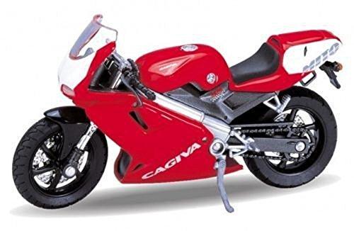 DieCast Modell Motorrad CAGIVA MITO 125 rot metall Welly Motorradmodell 1:18