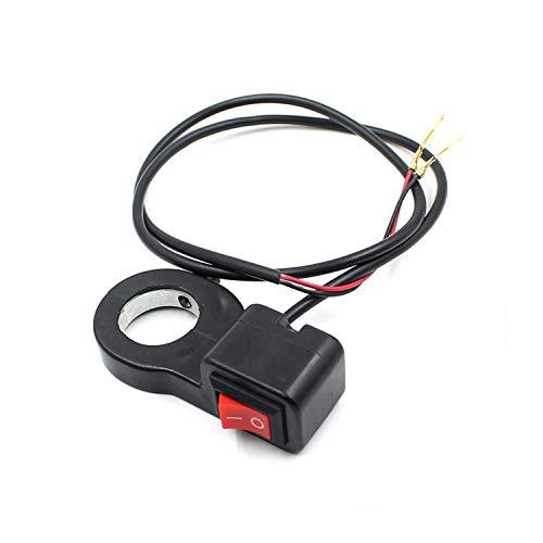 FWUDI Interruptor de Encendido 12V Interruptor de Faros del Mango de automóvil Se apoya con el botón del Interruptor de flameo, Adecuado for la Moto de recitádicas