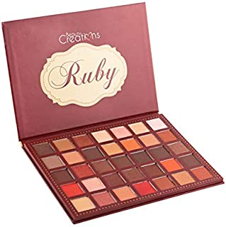 (6 Pack) BEAUTY CREATIONS 35 Color Eyeshadow Palette - Ruby (並行輸入品)