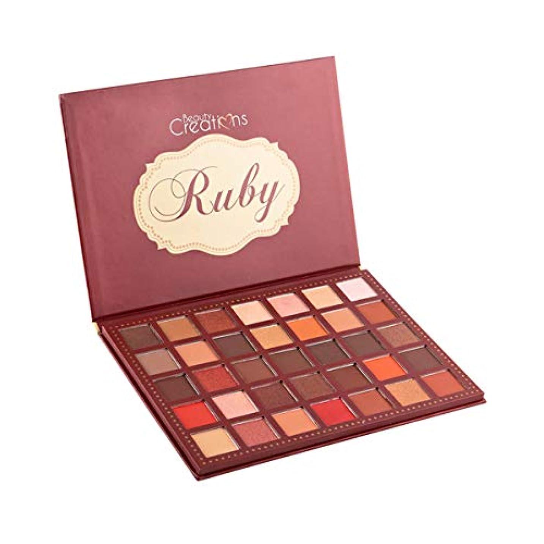 有名カジュアルストリップ(6 Pack) BEAUTY CREATIONS 35 Color Eyeshadow Palette - Ruby (並行輸入品)