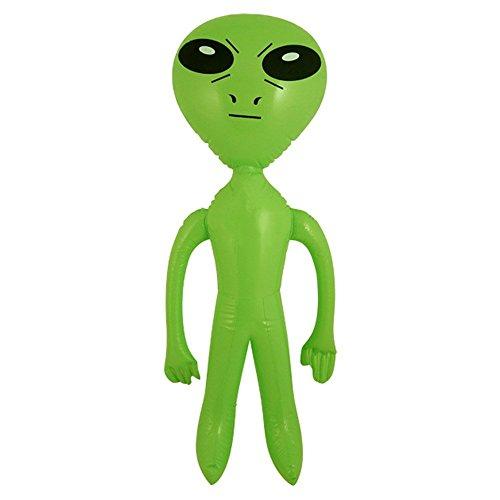 Henbrandt 2 x Gonflable Vert Alien Science-Fiction 64 cm