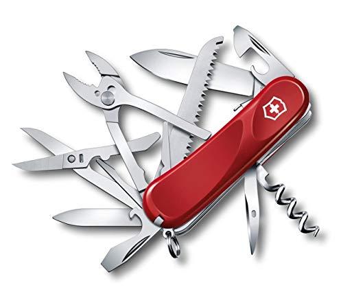 Victorinox Taschenmesser Evolution S52 (20 Funktionen, Feststellklinge, Korkenzieher) rot