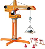 Award Winning Hape Playscapes Crane Lift Playset Yellow, L: 17.8, W: 16.5, H: 21.2 inch