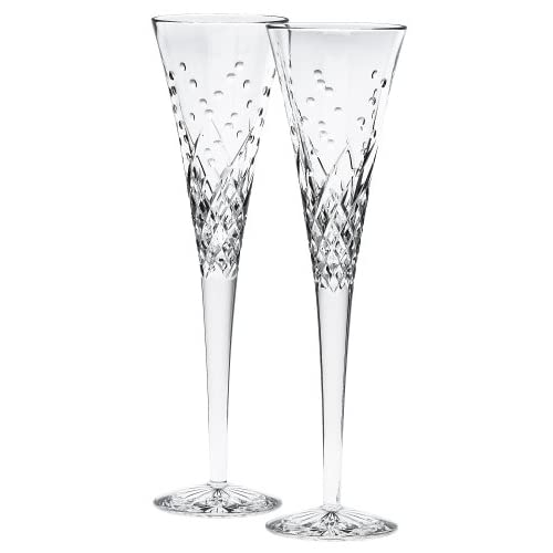 458cb377219c Waterford Happy Celebrations Crystal Flute Glasses