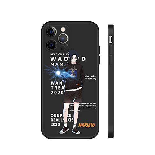 YFC Phone Case for iPhone 12/12 Pro Naruto/Dragon Ball,Silicone Lightweight Slim Shockproof protective Cover,Durable Strong (Color : Black-5, Size : For IPhoneX)