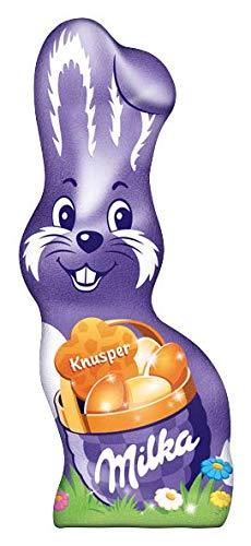 Milka Schmunzelhase Knusper – Zartschmelzender Schokoladen Osterhase aus feinster Alpenmilch mit kleinen Knusperstückchen –24 x 50g