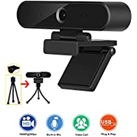 Taotuo HD 1080P Webcam with Microphone, Privacy Cover and Tripod