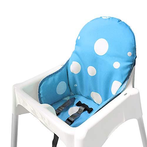Ikea Antilop Hochstuhl Sitzbezüge & Kissen von ZARPMA, Waschbar Faltbarer Babyhochstuhl Bezug Ikea Kinder Sitz Covers Stuhlkissen (Blau)