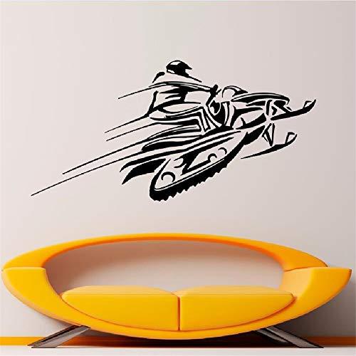 Ajcwhml Snow Car Wall Decal Sticker de Vinilo Racing Invierno Deportes Extremos Arte diseño Mural Interior decoración del hogar Accesorios de la casa WW-178 42X86CM