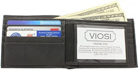 LeatherBoss Small Plain Credit Card Holder Wallet