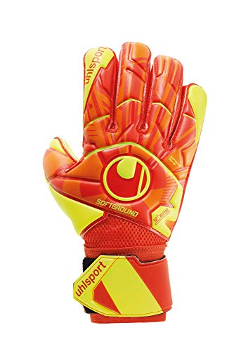 uhlsport Herren Dynamic Impulse Soft Flex Frame Torwarthandschuhe, orange/Jaune Fluo, 5,5 EU