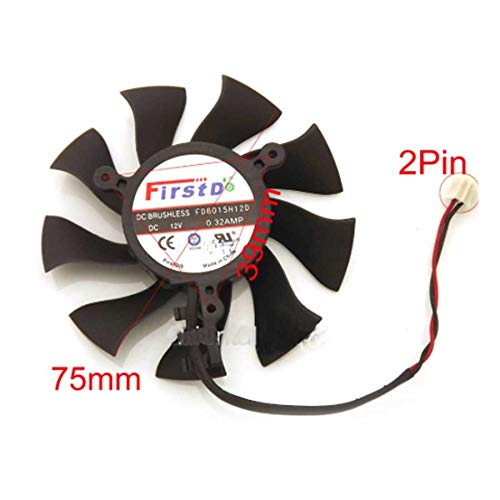 QHXCM FD8015H12D 12V 0.32A 75mm 39 * 39 * 39mm 2Pin for ZOTAC GTX650 GTX650Ti Graphics/Video Card Fan