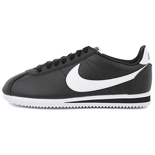 Nike Wmns Classic Cortez Leather, Zapatillas de Gimnasia Mujer, Negro (Black/White-Black 016), 44 EU