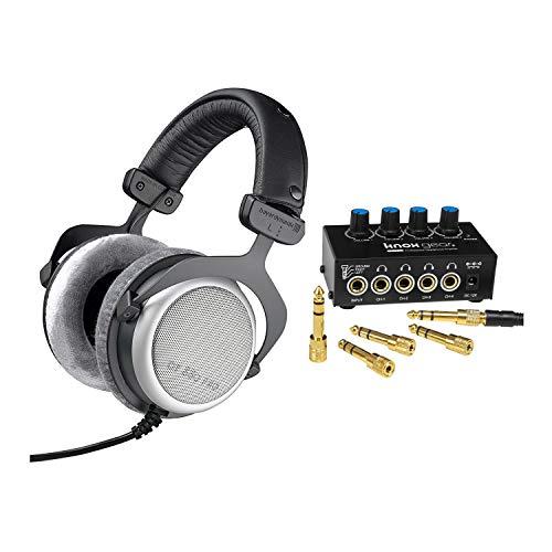 Beyerdynamic DT-880 PRO 250Ohm Studio Headphones with Knox Gear Compact Stereo Headphone Amplifier Bundle (2 Items)