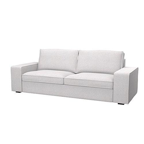 Soferia - IKEA KIVIK Funda para sofá de 3 plazas, Naturel White