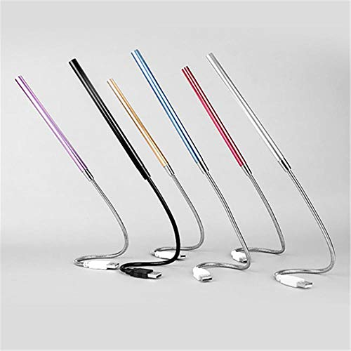MOMO Lámpara de Escritorio Lámparas de Mesa LED Luz de Mesa LED 10LED Luces de Lectura de PC Power Bank Laptop Protección de Ojos, Rojo