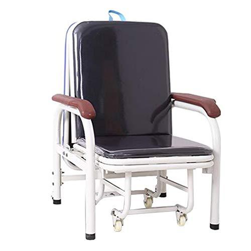 QIDI Chaise Chaise Longue de Jardin Tabourets Métal Simple Moderne Multifonction Moderne Pliable, Facile à Transporter Sieste Domestique - Une Chaise à Double Usage