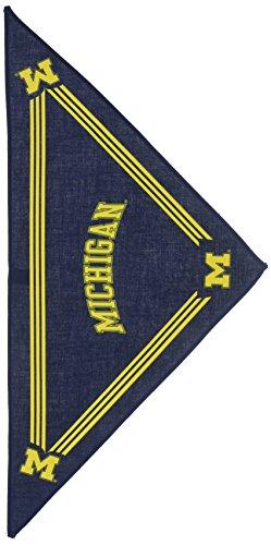 Collegiate Michigan Wolverines Pet Bandana, Small - Dog Bandana must-have for Birthdays, Parties, Sports Games etc..