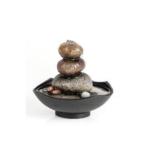 Pajoma 53516 - Fuente de Interior con diseño de jardín japonés (Resina, Altura de 19 cm)