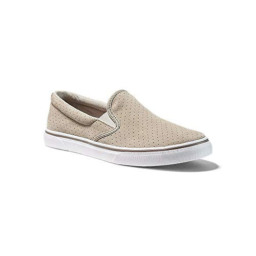 Eddie Bauer Women's Haller Leather Slip-On, Light Khaki Regular 10M