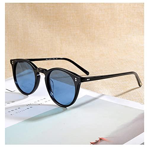 TYTG Gafas de sol polarizadas Gafas de sol clásicas unisex Artículos para uso diario (lentes color: negro vs azul)