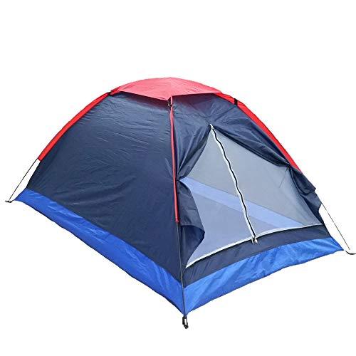 Tiamu - Tienda de campaña doble para exteriores, de una sola capa, para playa, viajes, resistente al viento, impermeable, ultraligera al aire libre, plegable, para senderismo, picnic, pesca en la playa