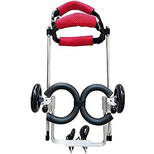 RJJBYY Verstellbare Hunde Rollstuhl Hinterbeine Gehhilfe für Alterung, Behinderung, Verletzungen, Arthritis, schwache Hunde/Katzen/Haustiere mit schwachen Hinterbeinen