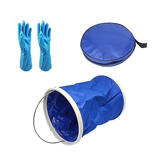 Grbewbonx Cubo plegable de camping, cubo de pesca plegable del contenedor de agua, bolsa de lavado plegable ligera portátil
