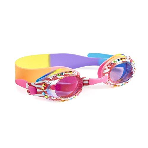 Gafas de natación para las niñas–Zebra Crossing niños gafas de natación por bling2o, Rosado
