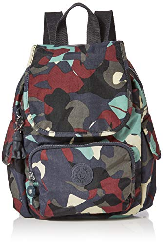Kipling - City Pack Mini, Mochilas Mujer, Multicolor (Camo Large), 27x29x14 cm (B x H T)