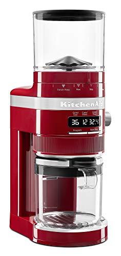 KitchenAid KCG8433ER Burr Coffee Grinder, 10 oz, Empire Red