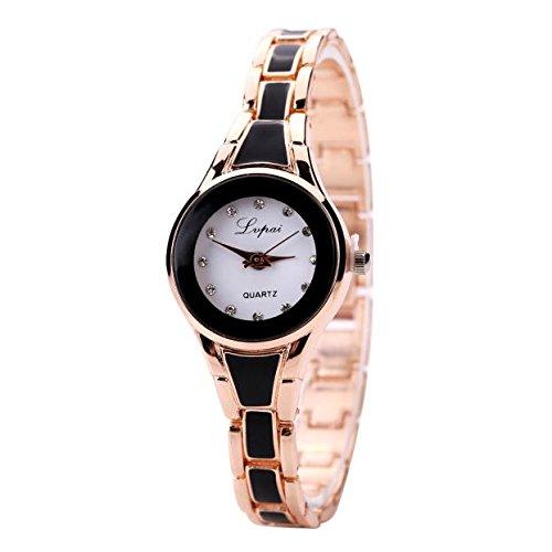 Armbanduhr Damen Quarz Uhr Armband Mode Verkauft der Analoge Quarz Damenuhr Uhren Ultradünne Analoguhr, Gold Silber LEEDY