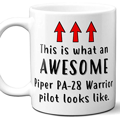 Vliegtuig Pilot Gift Coffee Mok, Cup.Piper PA-28 Warrior Dit is wat een geweldige Piloot eruit ziet. Ideaal voor verjaardag, Kerstmis, Vaderdag, Moederdag, 11 oz