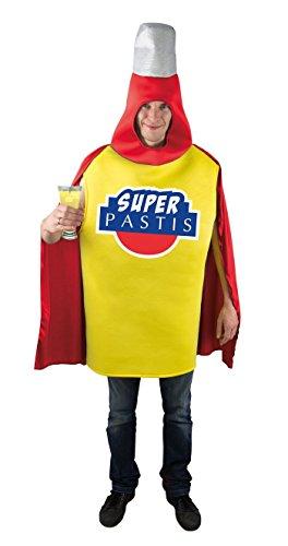 P'TIT Clown 46052 Disfraz Adulto Super Pastis, Talla nica