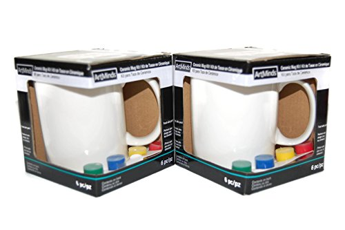ArtMinds Ceramic Mug Painting Kit (2 pack)