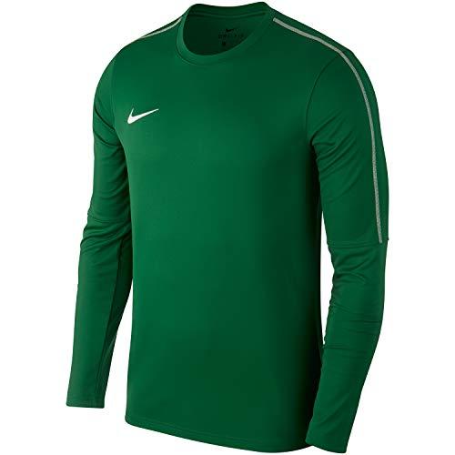 NIKE Kids' Dry Park18 Football Crew Top Camiseta de Manga Larga, Unisex niños, Verde (Pine Green/White/302), S