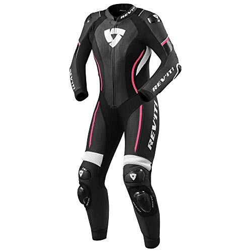 Revit Xena 3 1-Teiler Damen Motorrad Lederkombi Schwarz/Weiß/Pink 42