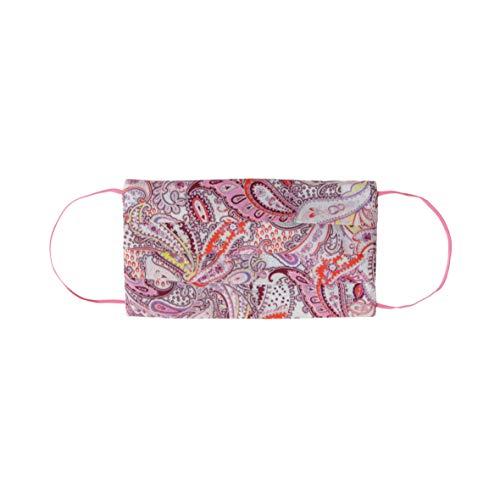 CODELLO Damen, Mund Nasen Maske mit Paisley-Muster aus Baumwolle, Light Pink, Einheitsgröße