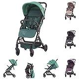 Chipolino, cochecito Roxy, cesta con ruedas plegables, respaldo ajustable por muelle. Color: verdeño.