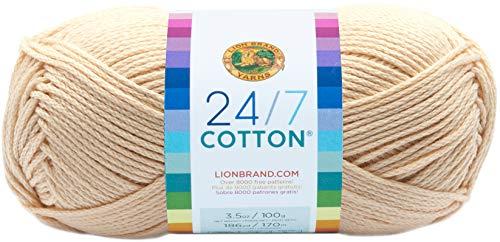 Lion Brand 24/7 Cotton Yarn-Ecru