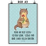 Mr. & Mrs. Panda Geschenk, Bild, Poster DIN A3 Otter