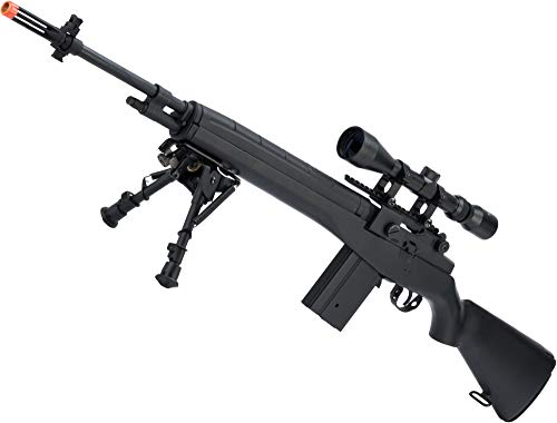 Evike AGM MP008 M14 Airsoft AEG Battle Rifle w/Scope Mount (Color: Black)