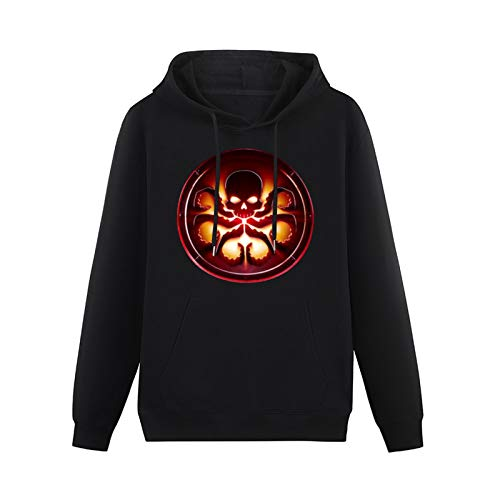 Gifts for Men Agent of Shield Hydra Logo Hoodies Long Sleeve Pullover Loose Hoody Sweatershirt Size S