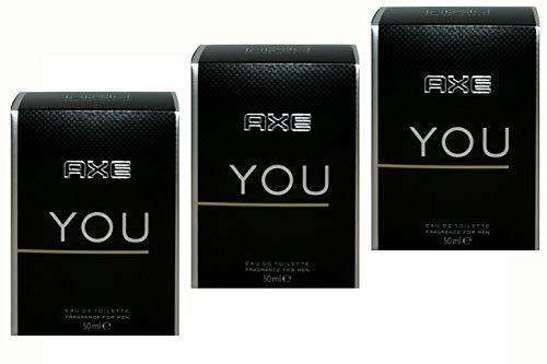 Axe You Eau de Toilette für Herren, 50 ml (3er Pack)