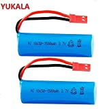 Parts & Accessories YUKALA 2pc 3.7v 1500Mah Li-ion Battery 15C 18600 JST Plug for rc Boat rc car rc Helicopter - (Color: Yellow)