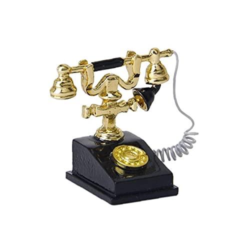 Tiny Tel¨¦fono Retro Mini Casa Crafts escena en miniatura Juego 01:12 Modelo...